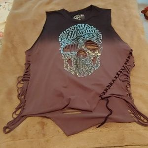 Women's Affliction shirt, new condition.